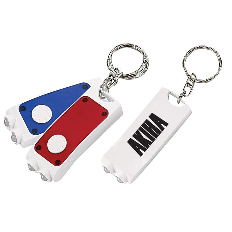 2-Tone Rectangular Key Ring Flashlight