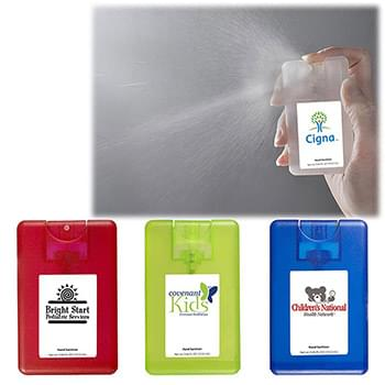 Credit Card Hand Sanitizer Spray