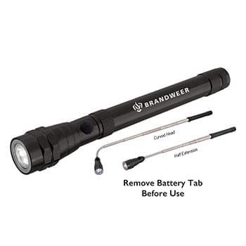 Telescopic Flashlight w/ LED Light